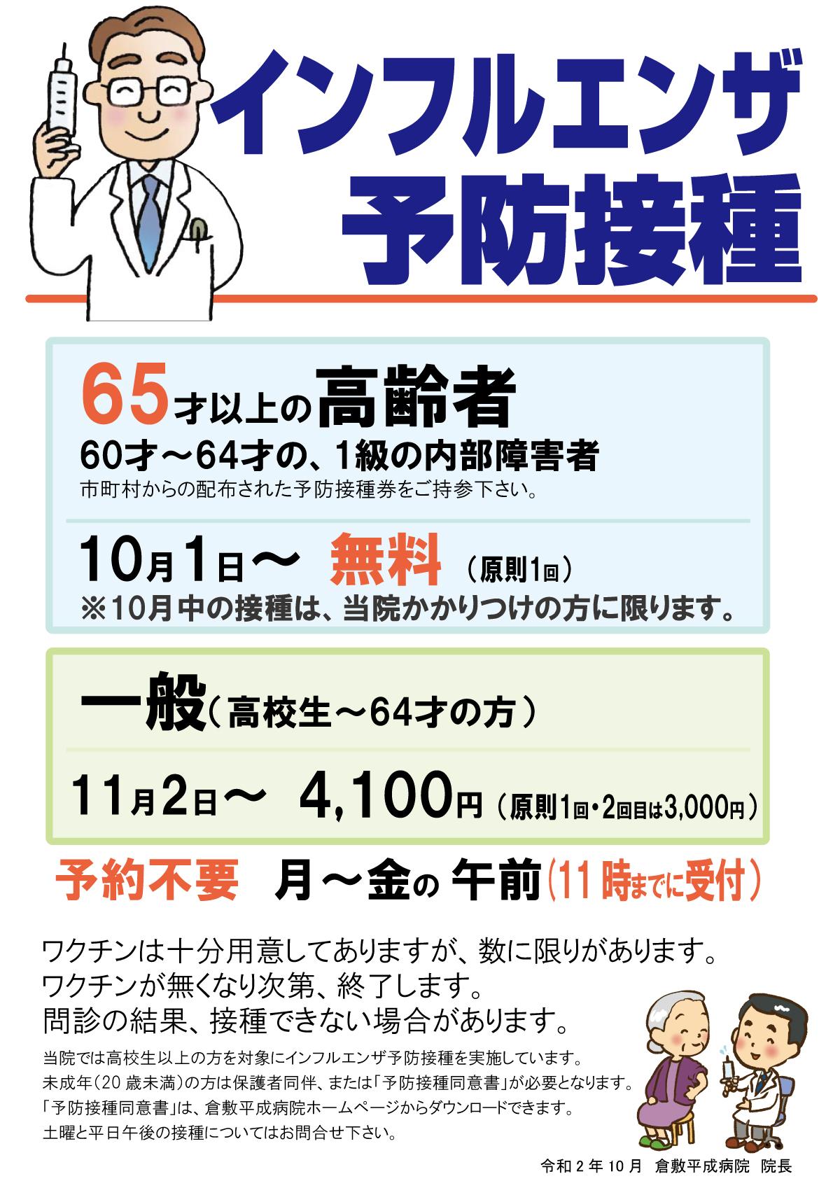 予防 接種 インフルエンザ
